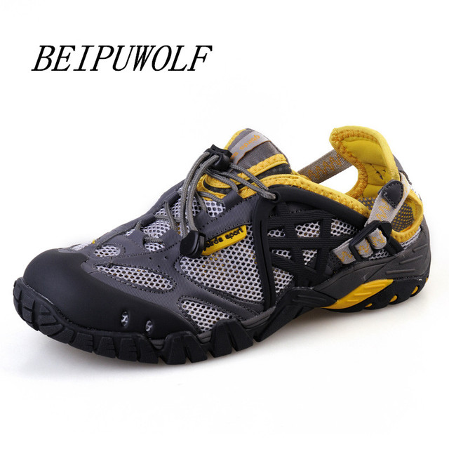 Men's Casual Shoes Summer Water Shoes Lightweight Lace Up Hiking Shoes Plus Size 12 13