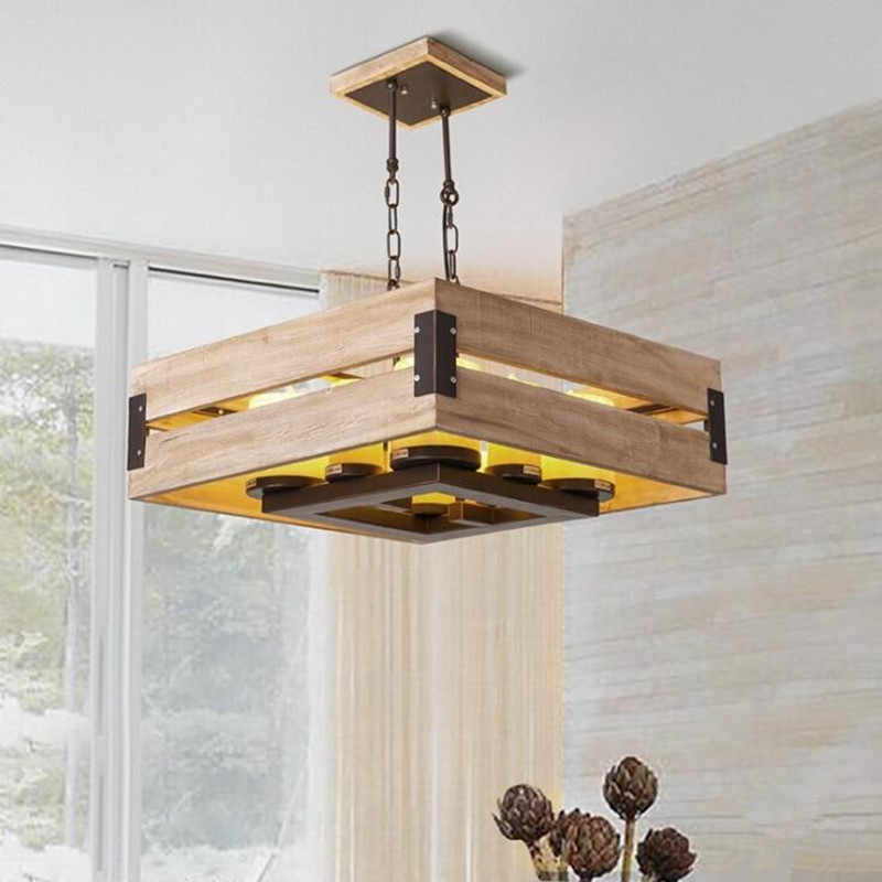 Simple Wooden Chandelier Lighting