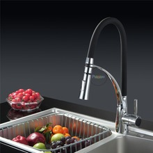Full copper tricolor 360 rotating single hole cold and hot water faucet цена