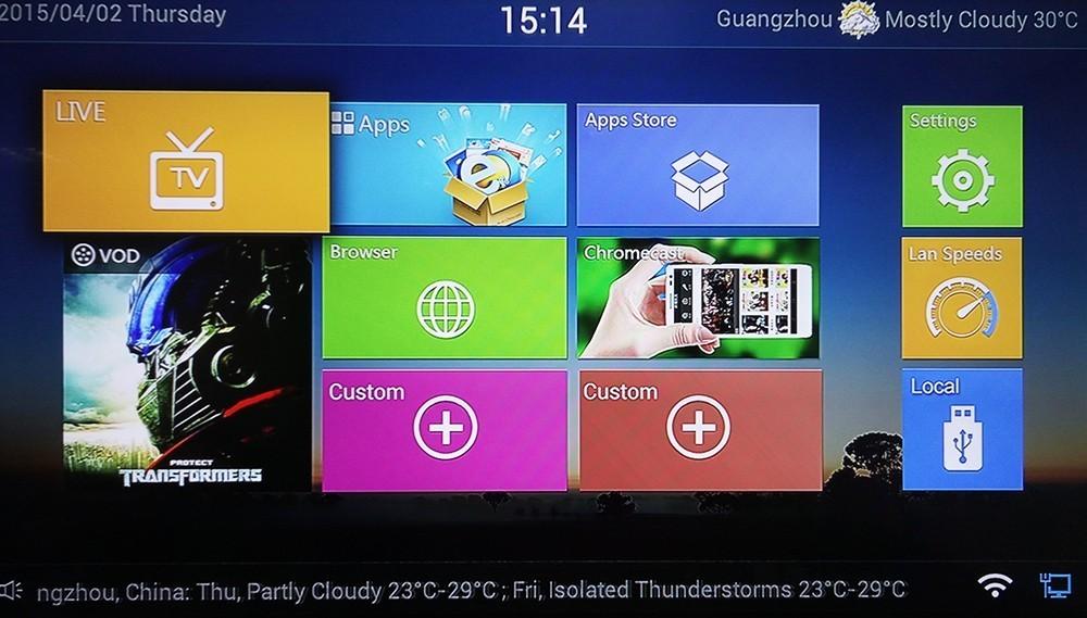 5pcs HD Indian IPTV box 4k Android 4 4 smart TV Box 200+