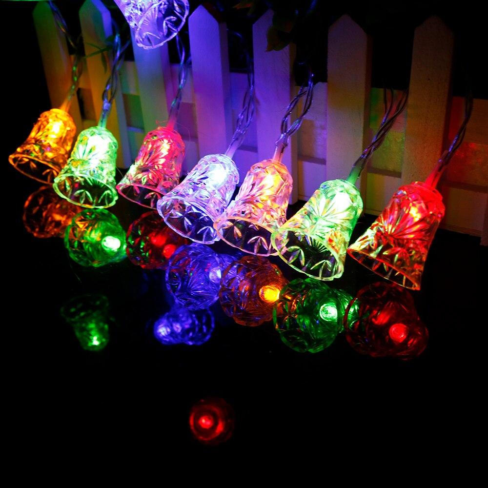 Multi Color Bell Led String 10leds Christmas Tree Decor