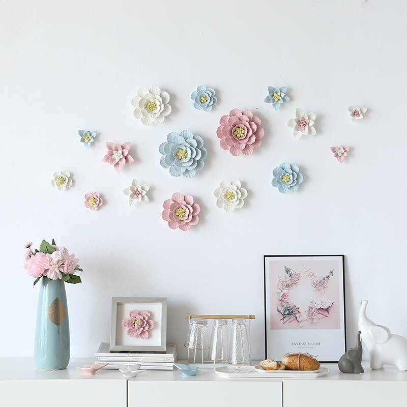 Ceramic Wall Flower Decor: Ceramic Flower Wall Hangings Hanging Wall Decoration