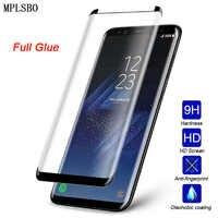 Verre trempé HD pour Samsung Note 9 8 S9 S8 5D protecteur d'écran pleine colle pour Samsung Galaxy Note 8 S8 S9 Plus verre