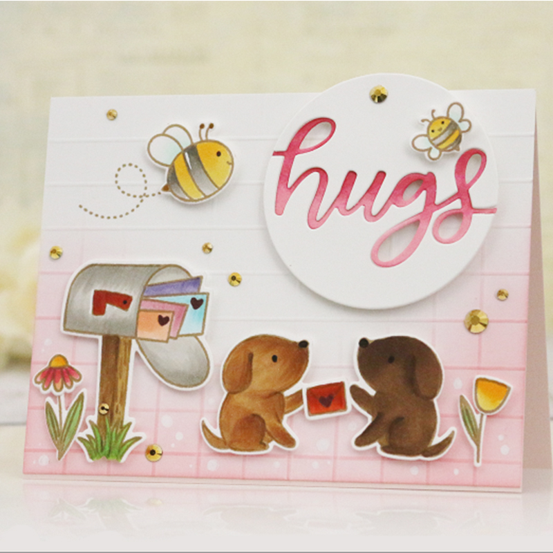 3x4 Bee thinking of you Transparent Clear Silicone Stamp Set for DIY Scrapbooking/Photo Album Card Making Decorative