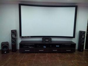 Image 5 - Écran de Projection cinéma bon Gain 16:9 écrans de projecteur à cadre fixe incurvé 120 pouces HD blanc mat pour laffichage cinéma 3D