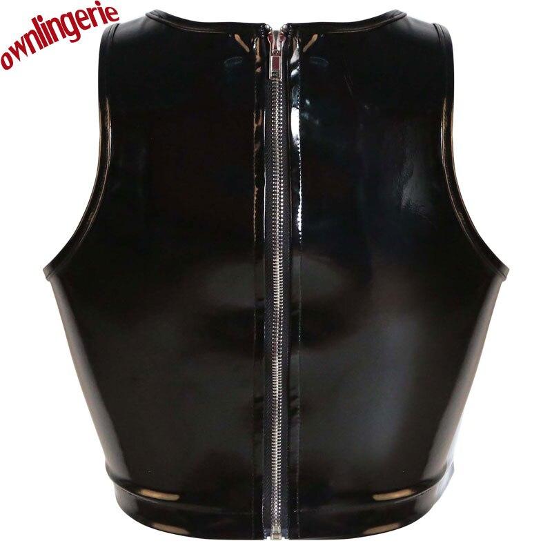 Сексуальные топы на молнии из leather xl