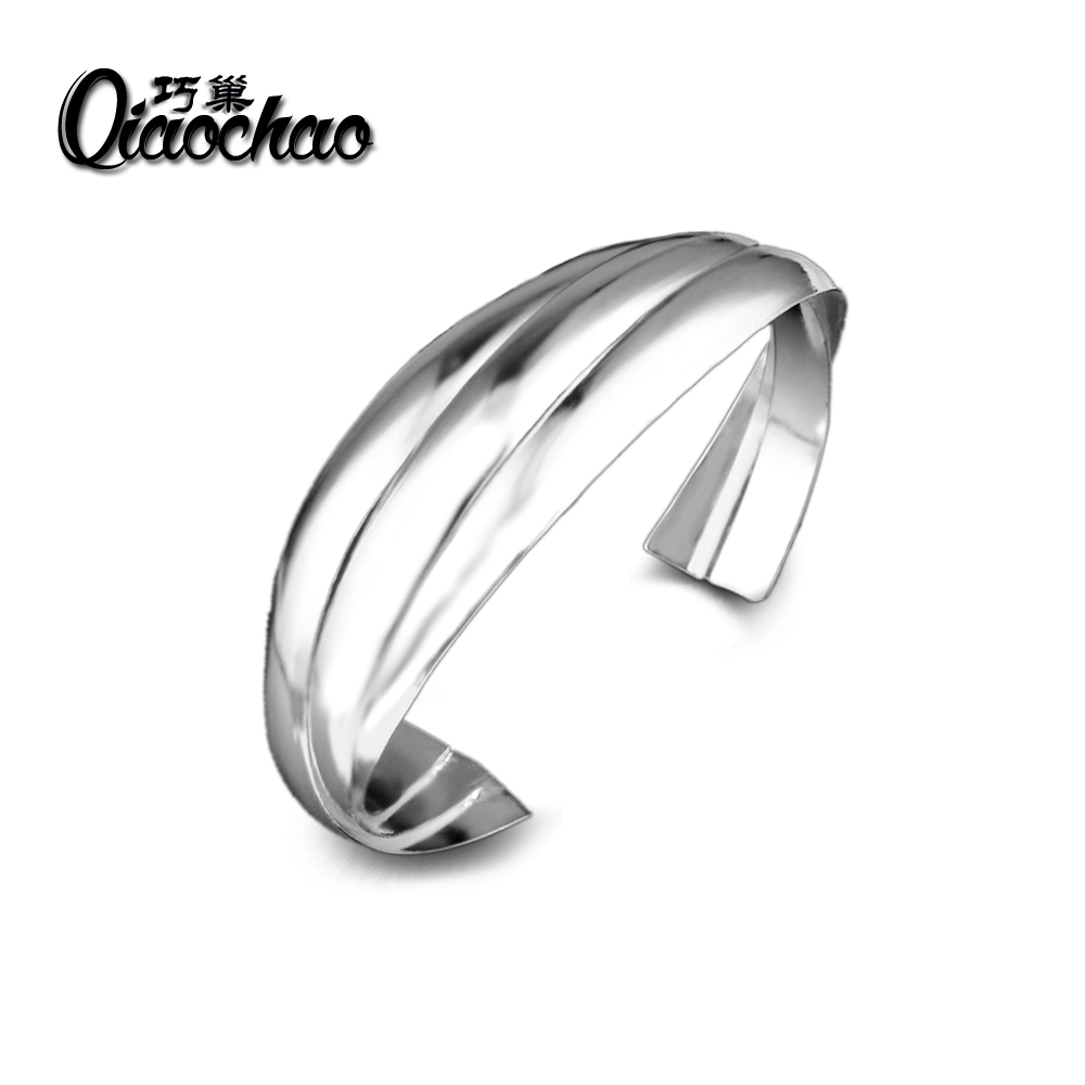 Factory direct high-quality silver Plated jewelry fashion hot noble Stylish simplicity female hypotenuse mesh bangles Z67