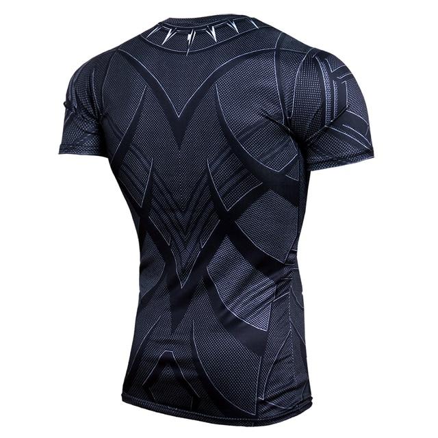 Black Panther Supermen 3D T Shirt Short Sleeve Compression Shirt Men Crossfit Fitness Tops Anime tshirt camiseta rashguard MMA 3