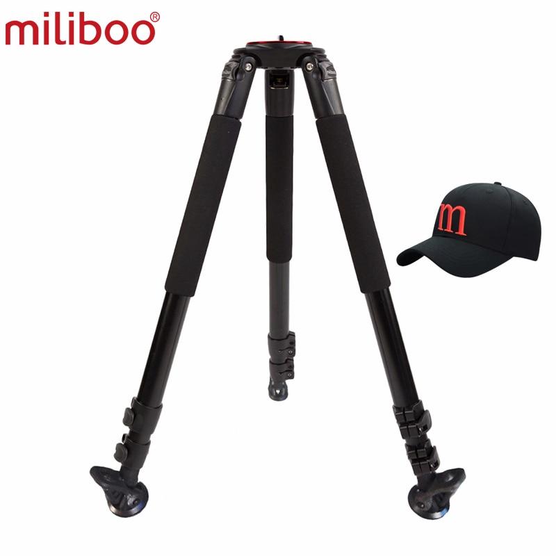 miliboo MTT703A Portable Tripod 1650mm Aluminum Professional Camera Tripod without Ball head Monopod For DSLR