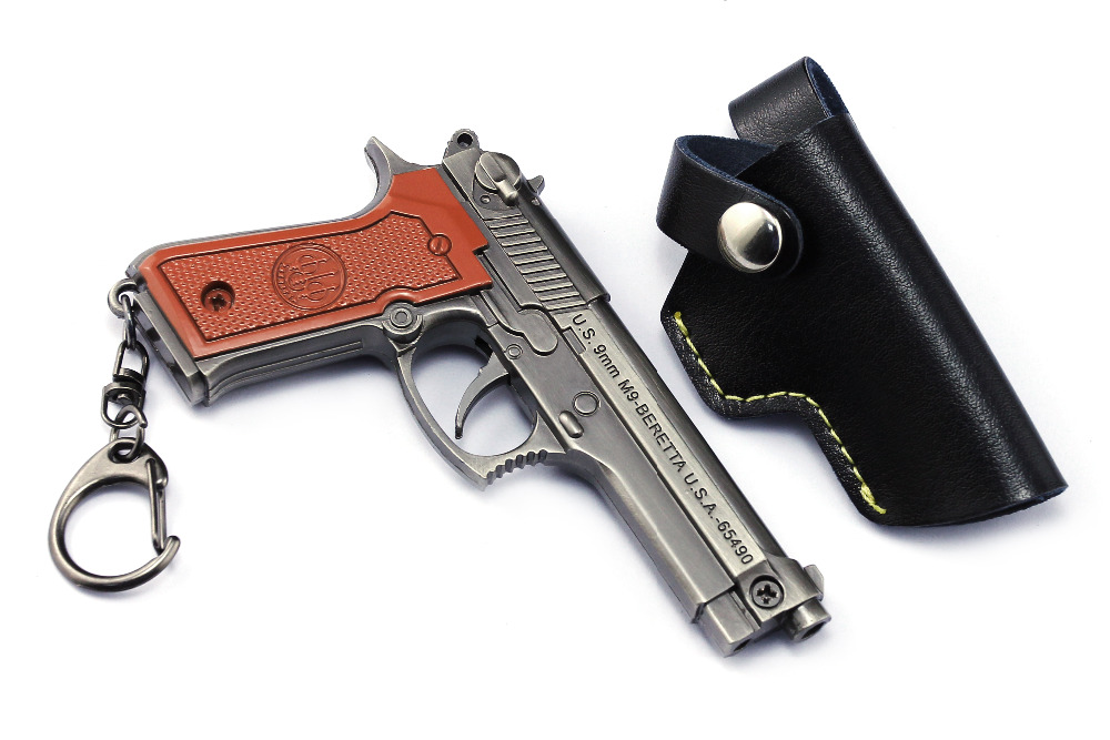 Novelty & Special Use Sunny Signal Gun Game Playerunknowns Battlegrounds Keychain Weapon Model Keyring Zinc Alloy Traveling Costume Props