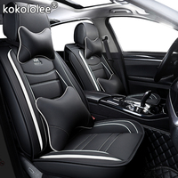 kokololee leather car seat cover For skoda karoq dodge ram 1500 suzuki ignis citroen c4 grand picasso ford explorer car seats
