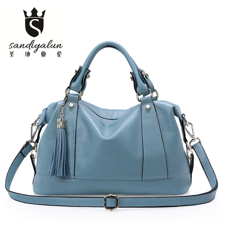 Large Capacity Genuine Leather Handbag 2017 Luxury Women Shoulder Bag Fashion Female Tote Brand Messenger Bags Bolsa Feminina