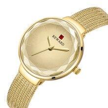 2019 Reloj pulsera mujer Acero Inoxidable marca REWARD elegante Dial cuarzo reloj de Casual regalo