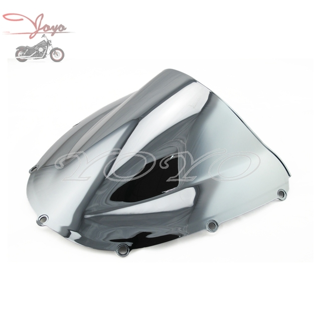 Motorcycle Windscreen Windshield Chrome Wind Screen For Honda CBR 954RR 02 03