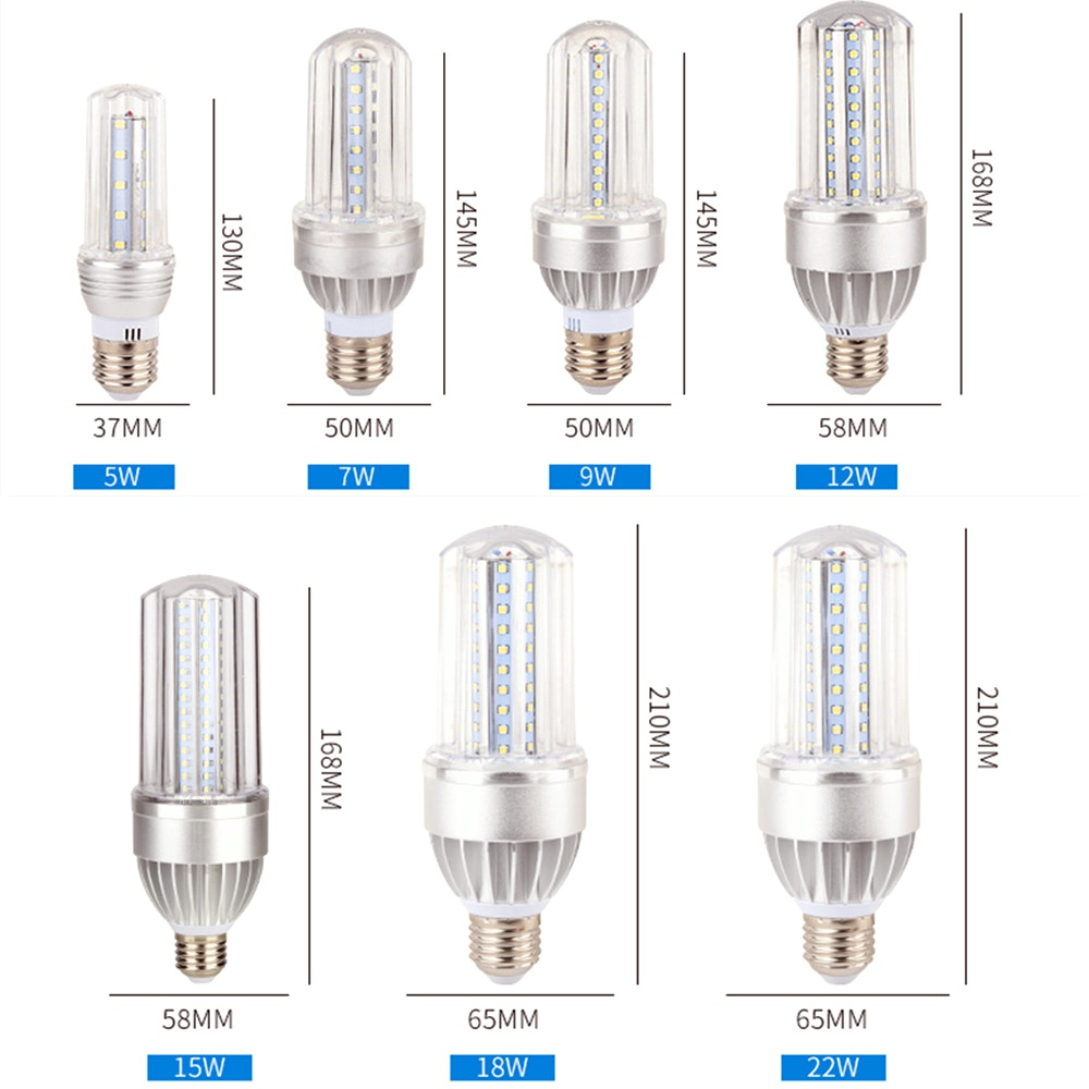 led corn light e27 110v 220v 5630 smd led bulb 5W 7W 9W 12W 15W 18W 24W daylight cool white 6500K warm white 3000K gc g9 2 5w 36x2835 smd led 220lm 3000k warm white light corn bulb ac 200 240v