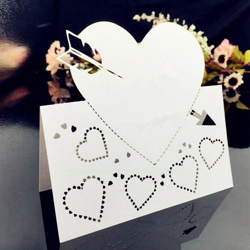 Cards & Invitations 10pcs/lot Laser Cut Love Heart Table Name Cards Wedding Table Decoration Baby Shower Party Decoration Place Cards 6zsh081 Strong Packing