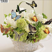 YIKEE Diamond Painting Flower with Butterfly 5d Full Square/Round Drill Picture Of Rhinestones Beadwork  k73 yikee diamond painting full square dogs 5d full square round drill picture of rhinestones beadwork h1468