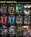3D Motorcycle Universal Fish Bone Gas Tank Pad Protector Decal Sticker Flame Skull Tank For Honda CBR250 Suzuki Kawasaki Yamaha