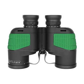 7x50 Binocular Telescope Waterproof Nitrogen Floating Power Military Internal Compass Green Telescope For Navigation Boating