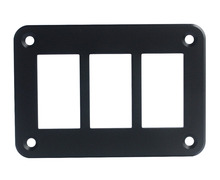 Aluminum 3 Way Rocker Switch Mount Holder Panel FOR CARLING ARB NARVA Style switches With Screws