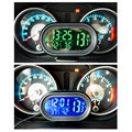 Automobile HOT LED Lighted Digital Car Clock Thermometer Auto Dual Temperature Gauge Voltmeter Voltage Tester DC 12-24V