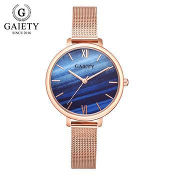 Gaiety Luxury 2 PCS Set Watch Women Rose Gold Water Drill Bracelet Watch Jewelry Ladies Female Hour Casual Quartz Wristwatches 16