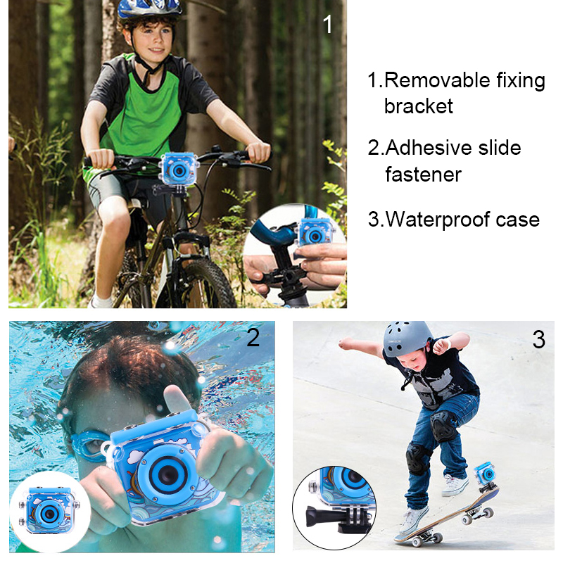 HTB10DdHXRKw3KVjSZFOq6yrDVXa3 High Quality Mini Kids Digital Camera Waterproof 30M 1080P Video 120D Camera Recoder Camcorder Gift For children Easy use