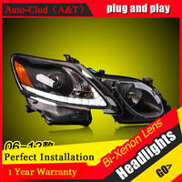 Car Styling For GS350 led headlights 2006 12 For GS350 head lamp Angel eye led DRL front light Bi Xenon Lens xenon HID KIT