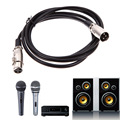 NI5L 3pin XLR male to female mic microphone audio extension cable cord Free Shipping