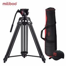 Miliboo MTT601A Алюминиевая, сверхмощная жидкости головы камера штатив для видеокамеры/штатив для цифровой зеркальной камеры Professional видео