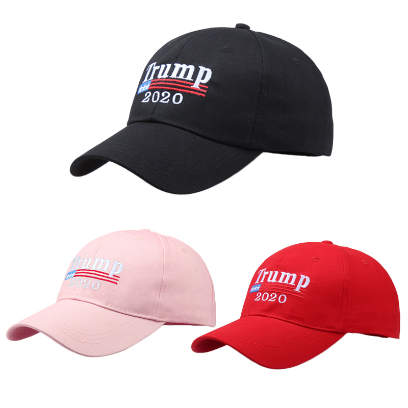 Casual leisure hats Adjustable Summer Make America Great Again MAGA Trump 2020 Solid Color Snapback   Baseball     Cap   Hat BLACK