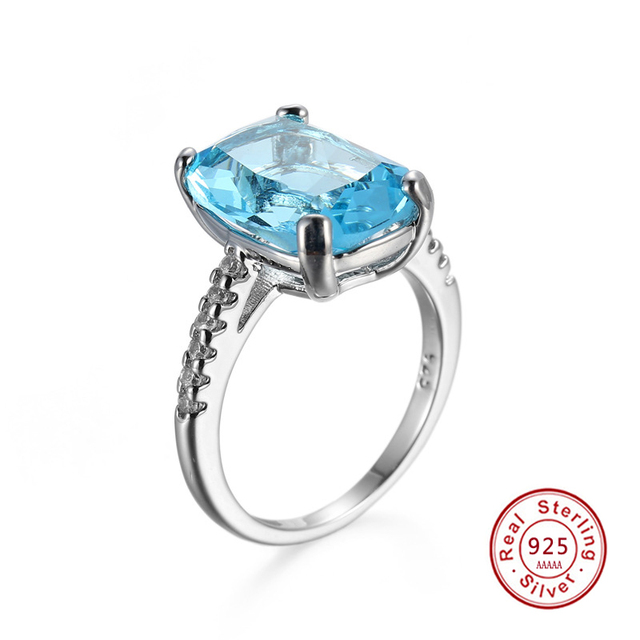 Christmas Gift 925 Starling Silver Rings Charm Jewelry Ring For Ladies With ligh