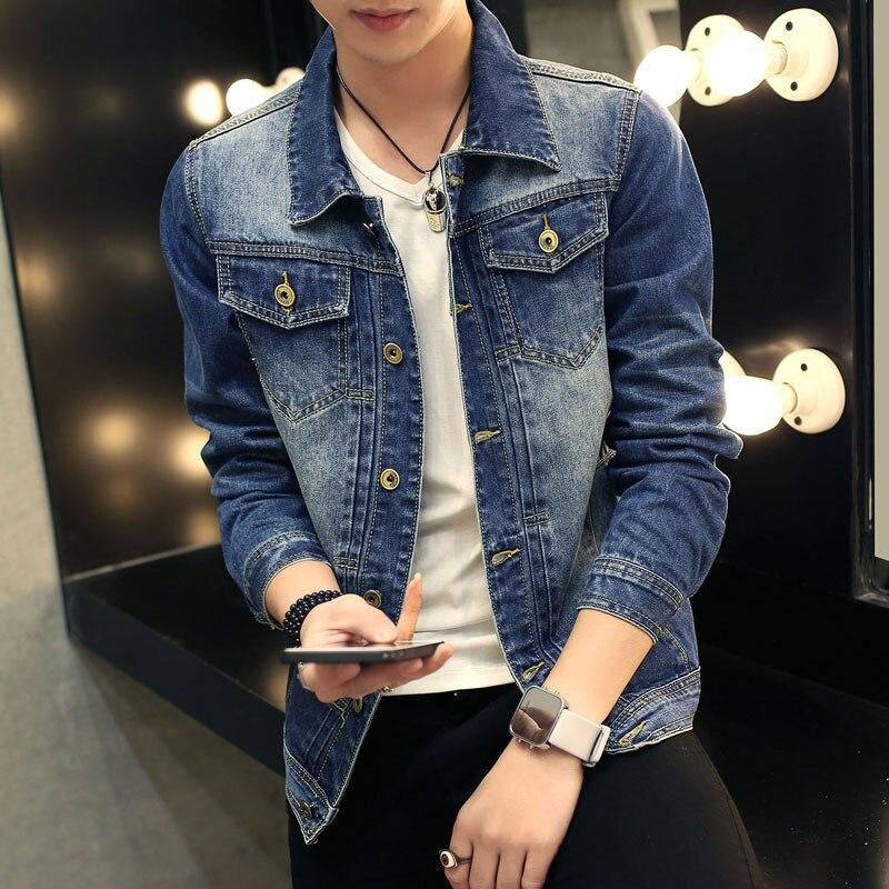 TIGER KNIFE 2017 Fashion font b Men s b font Cotton Denim Jackets Coat Casual Slim