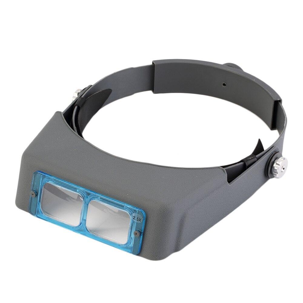 Ganda Lens Kepala Mount Headband Reading Magnifier Memakai Kaca Pembesar Magnifying Lamp Lampu Service Robot Loupe 4 Perbesaran Kacamata Merek Baru Di Dari Alat Aliexpresscom