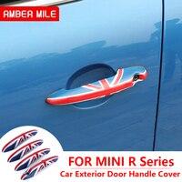 AMBERMILE ABS for Mini Cooper Clubman R55 R56 R57 R58 R59 Countryman R60 R61 Accessories Car Exterior Door Handle Cover Sticker