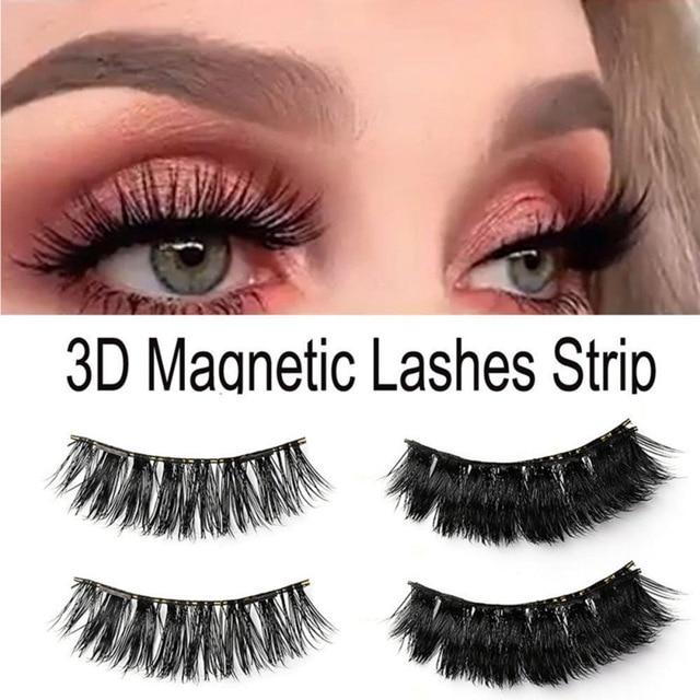8f6d480c6fa 4pcs/set 3D Magnetic Long thick Eyelashes Eye Makeup Kit Natural Thick  Eyelash Extension Mink