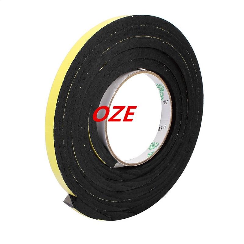 1pcs 10mm x 8mm Self Adhesive Shock Resistant Anti-noise Foam Tape 2M Length 10 x 10mm single sided self adhesive shockproof sponge foam tape 2m length