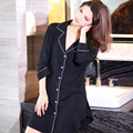 Modal Sexy autumn and winter  female XL long-sleeved shirt cardigan tracksuit trade