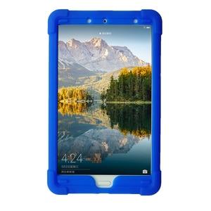 Image 5 - MingShore 견고한 아이 친화적 인 충격 방지 실리콘 커버 케이스 화웨이 MediaPad M5 8.4 인치 SHT AL09 SHT W09 태블릿