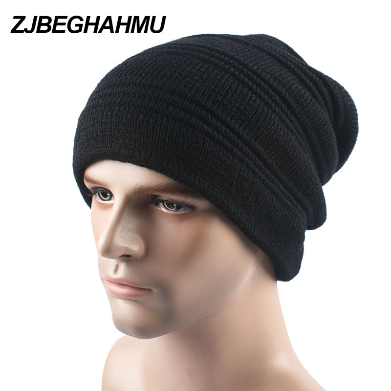 Brand Winter Hat Knitted Mens Winter Cap 2017 New Women Casual Solid Thick Warm Plus Velvet Beanie Cap Skullies Beanies skullies new arrival warm winter female knitted hat hedging interior plus fluff lines thick line twist cap cute hat 1866934