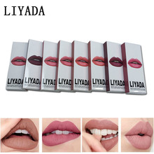 LIYADA brand liquid lipstick makeup tint matte red lips kilie set mate lipkit ruj me nude lip gloss16pcs/lot kit lipstick batom(China)