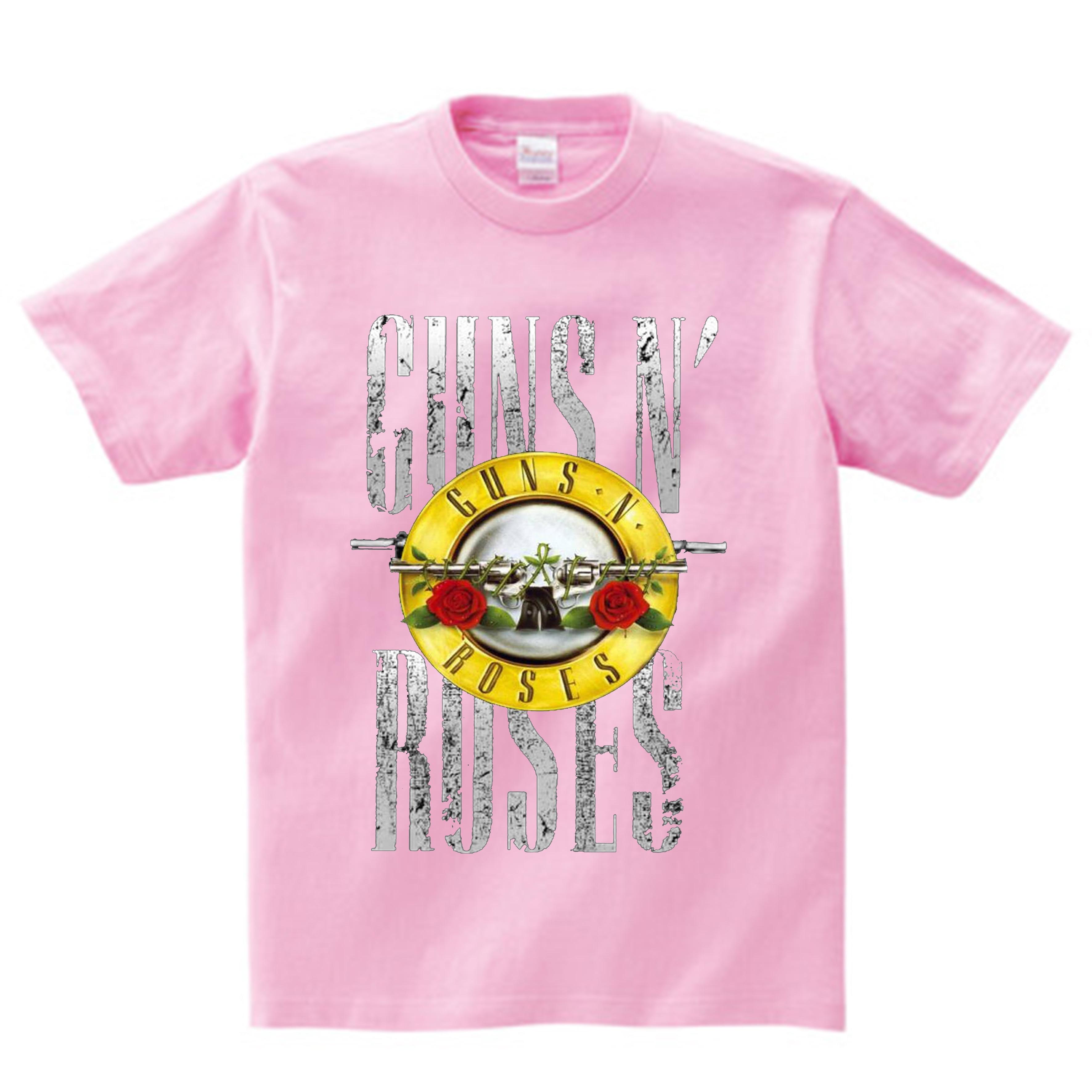 Crianças rock band gun n rosas imprimir t camisa verão crianças hip hop música topos bebê meninos/meninas t camisa vogue princesa roupas nn