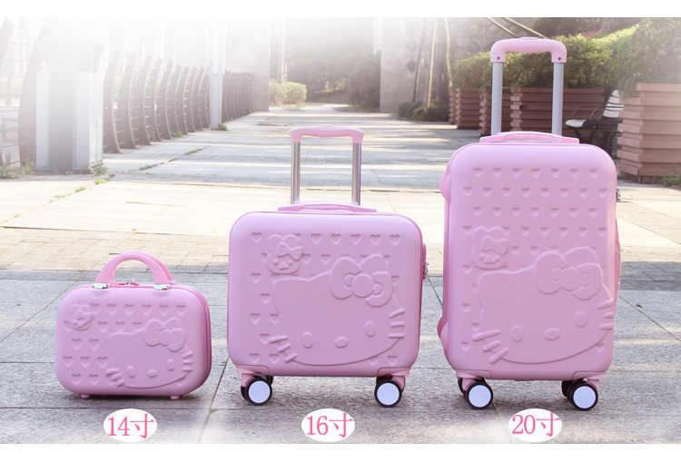 16bceb4a1938 Detail Feedback Questions about Hello Kitty Cabin Luggage   Suitcase ...