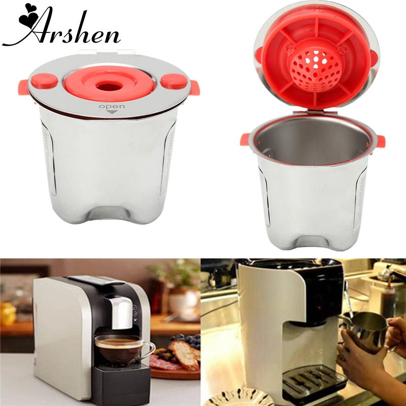 Arshen Stainless Steel Refillable Coffee Filter Basket Reusable Filling Capsule For Keurig 2.0 Home Shop Coffee Tea Brewing Tool