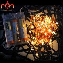 3m / 9.8 ft 30 LEDs 3AA батарея светодиодный медный свет строка фея огни домашнее украшение рождественские огни свадебный свет декор