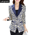 TANGNEST Printing Ladies Blazer 2017 New L-4XL Plus Size Flower Print Short  Women Suit Jacket Blazer Female Veste Suits WWX323