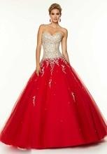 Kleider Für Prom 2016 Attraktive Sweetheart Lange Tüll Ballkleid Backless Abend-formale Kleid Ärmellose Kristalle bodenlangen