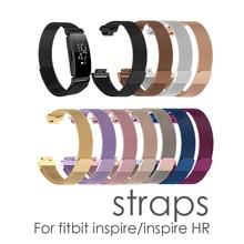 Çok renkli kayışı fitbit için inspire metal kayış inspire Için İK fitbit inspire/inspire İK metal bileklik fitbit flex