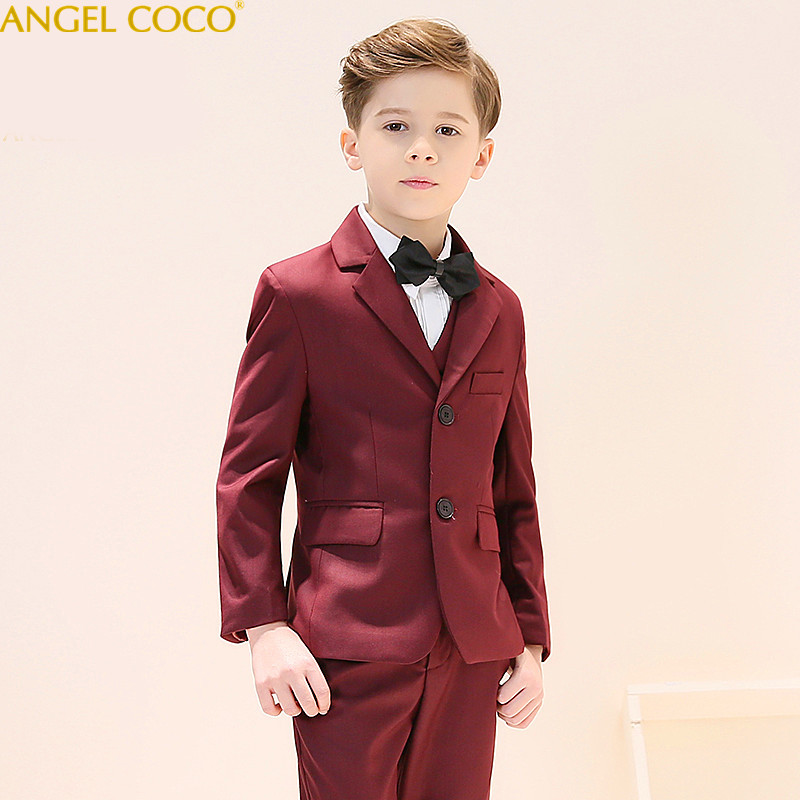 Nimble Burgundy Boys Suits For Weddings Kids Blazer Suit For Boy Costume Enfant Garcon Mariage Jogging Garcon Blazer Boys Tuxedo blazer georgede blazer