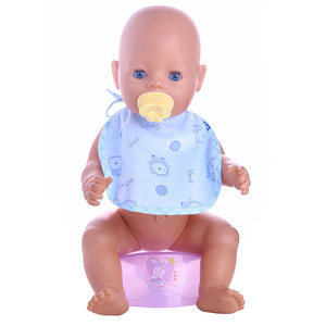 Image 3 - ZWSISU 5 Pcs/Set (Milk Bottle+Forks+Nipple+Dinner Plate) Simulated Doll Tableware For 18 Inch American Doll&43 Cm Baby Doll Toy